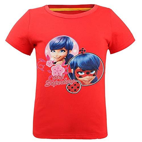 Kids Miraculous Ladybug Character Party T-Shirt Girls' Toddler Tee Short Sleeve Top Tshirt