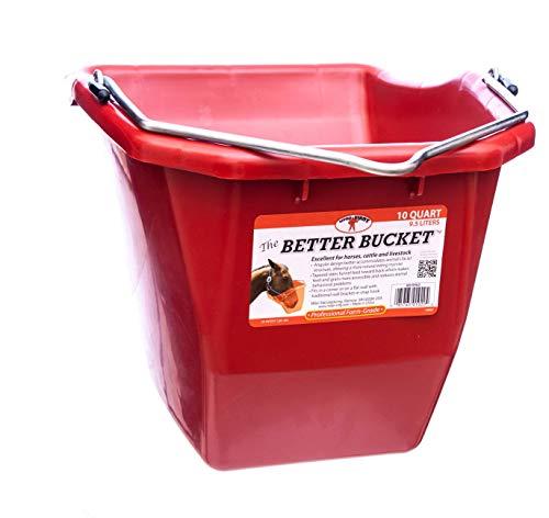 Little Giant Plastic Better Bucket, 10-Quart, Red