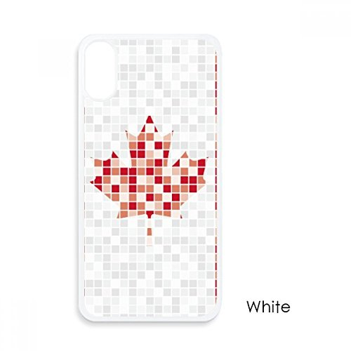 - Canada National Flag Maple Leaf Mosaic for iPhone X Cases White Phonecase Apple Cover Case Gift