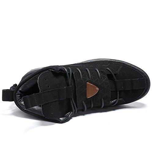 Odema Mens Tops Haut De La Mode Sneakers Skate Running Chaussures Occasionnels 1-noir