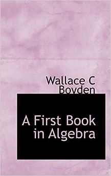 Book A First Book in Algebra