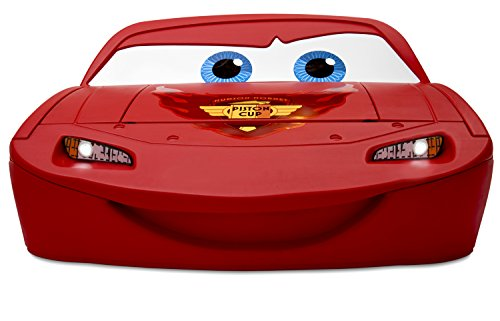 Delta Children Cars Lightning Mcqueen Toddler-To-Twin Bed with Lights and Toy Box, Disney/Pixar Cars 5