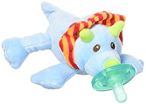 Baby / Child Safety Tested Mary Meyer Wubbanub 100% Soft And Cuddly Pacifier Infant Collection - Okey Dokey Dino (Mary Meyer Wubbanubs)