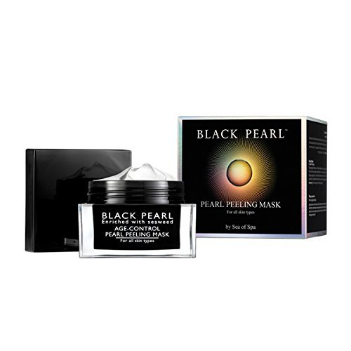 Sea of Spa Black Pearl - Peeling Mask & Smooth-out Eye and Lip Contour Cream, Black Pearl - Light Day Cream ( 3 Pack )