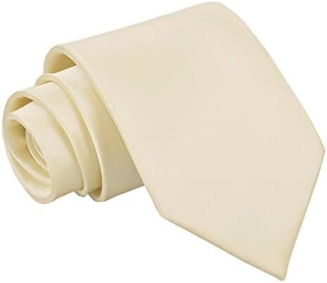 Premium Satin Plain Solid Men's Wedding Classic Standard 9cm Extra Long Tie – Various Colours