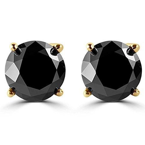 1//2-10 Carat Total Weight Black Diamond Stud Earrings Houston Diamond District 010117 rg black stud val 100 2.5 black