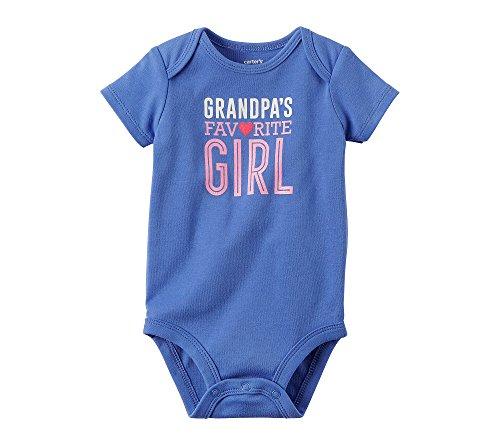 Carter's Baby Girls' Grandpa's Favorite Girl Bodysuit 12 (Baby Girls Favorite Cotton)