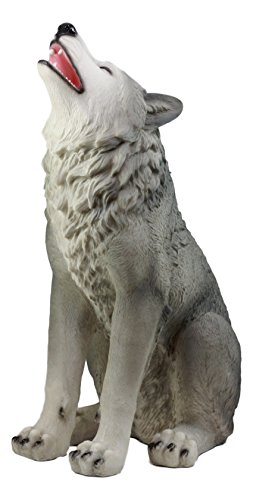 Howling Wolf Statue - Ebros Gift Large Howling Wolf Statue 18