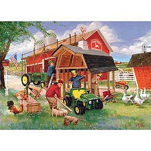 Great American Puzzle Factory John Deere Country Chores 1000 Piece Jigsaw Puzzle