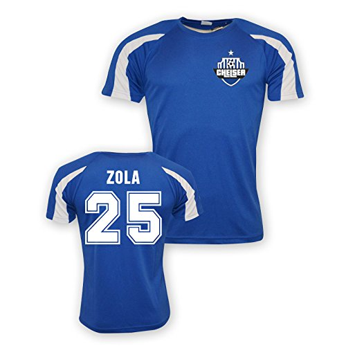 Gianfranco Zola Chelsea Sports Training Jersey (blue) B01LC84AZOBlue Large (42-44\