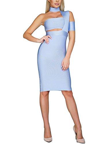 aqua bandage dress - 1