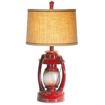 Vintage lantern table lamp red vintage lantern lamps amazon vintage lantern table lamp aloadofball Images