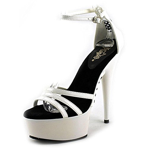 Pleaser DELIGHT-662 Wht/Wht Size UK 4 EU 37
