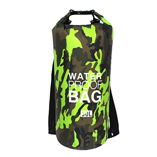 Waterproof Dry Bag 15L/20L/30L - Roll Top Dry Compression Sack Keeps Gear Dry for Kayaking, Beach, Rafting, Boating, Hiking, Camping and Fishing with Waterproof Phone Case
