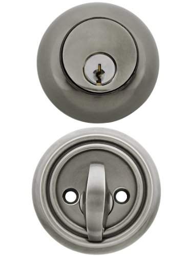 Solid Brass Single Cylinder Regular Style Deadbolt Antique Pewter With A 2 3/8