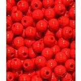140 Holzperlen 4mm rot speichelfest & schweißecht Made in Germany