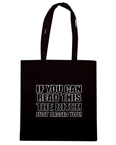 Nera Speed Shirt THIS IF CAN Shopper YOU READ TB0023 Borsa wgtrdgxqf