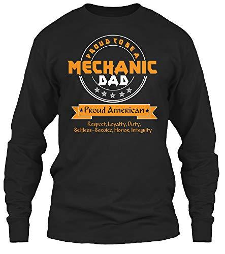Mechanic dad. 2XL - Black Long Sleeve Tshirt - Gildan 6.1oz Long Sleeve Tee