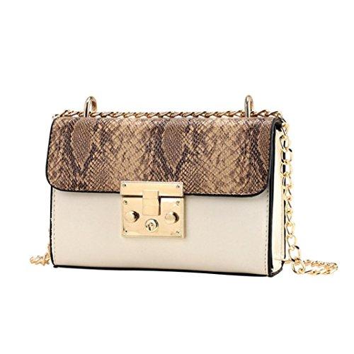 Sallydream Small Shoulder Bag Womens Bag Beige Square Messenger Bag