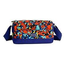 TUODAWEN(TM) Casual Nylon Multilayer CrossBody Bag Shoulderbag Zipper Closure for Woman
