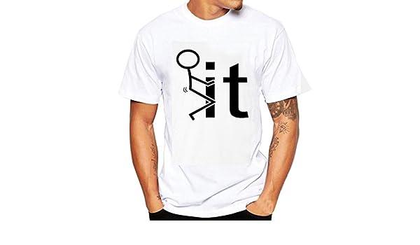 Tee Shirts hombre, Sonnena Casual empresarial it impresión manga ...