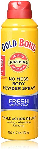 Gold Bond Medicated Body Powder, No Mess Spray, Fresh Scent, 7 oz