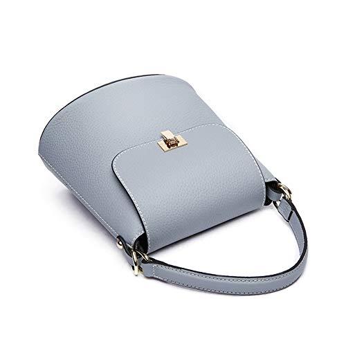 Bolso La Ffqng Con Hombro Blue Bolsa Cuero Largo Moda black Correa De Mujer S7dnWrxd