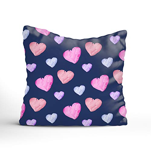 - Fornate Colorful Heart Square Decorative Throw Pillows Case Cotton Cushion Covers Shell