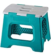 Vigar Compact Foldable Stool, 10-1/2 inches, Lightweight, 330-pound Capacity Non-Slip Folding Ste...