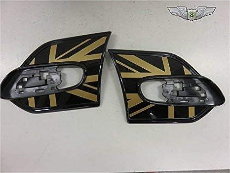 BMW Mini nuevo genuino ala oro Unión Jack lado Scuttle Juego de tapacubos 51142352626: Amazon.es: Coche y moto