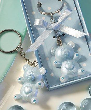 (Blue Teddy Bear Design Favor Saver Key Chains)