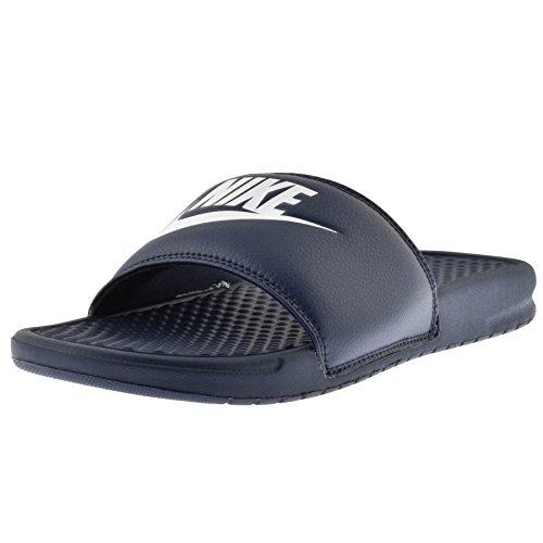 the latest 40d3b 41af1 Para hombre Nike Benassi JDI chanclas azul marino, color azul, talla 45 EU  Amazon.es Zapatos y complementos