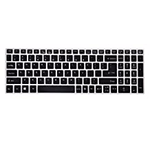 FORITO Black Silicone Keyboard Cover for Acer Aspire V3-574 V3-575 E5-573 E5-574 E5-772 E5-532 V15/V17 (Us Layout) - Acer Aspire Accessories Cover Skin (Black)