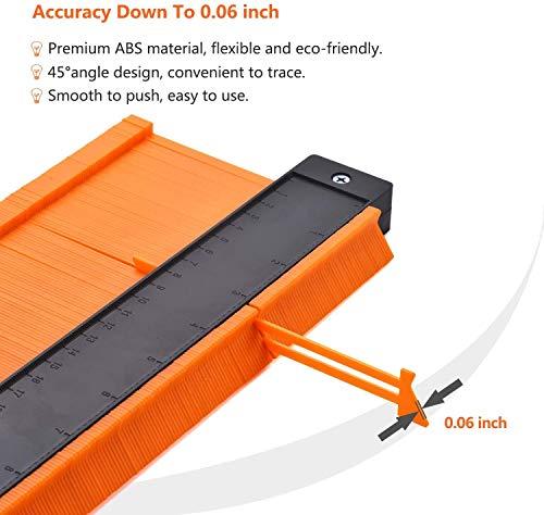 Contour Gauge With Lock- 2 Wide Contour Gauge Duplicators Set- 10\