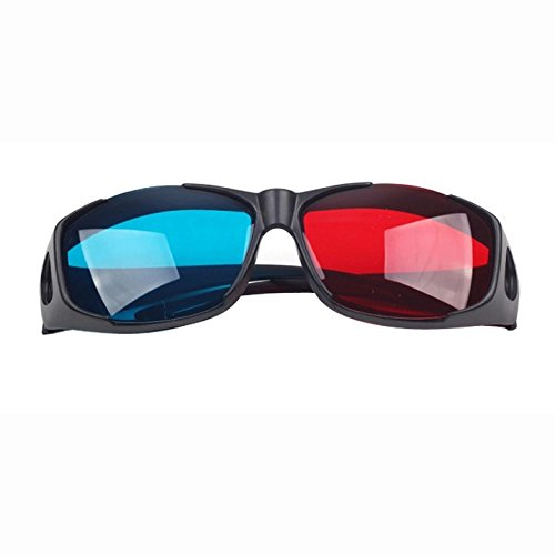SODIAL(R) Red-blue / Cyan Anaglyph Simple Style 3d Glasses 3d Movie Game-extra Upgrade Style (3Pcs With Different Style)