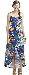 True Freedom Junior Girl's Playa Sleeveless Tulip Skirt Maxi Dress (M, Baltic Blue)