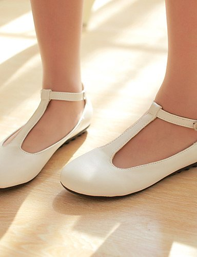 Zq Planos Casual Zapatos us5 Mujer Punta us8 Semicuero White Redonda Eu35 Blanco White Cn34 Yyz Eu39 Uk6 Tac¨®n Plano Uk3 De Cn39 pAqxrfpzw8