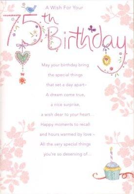 75th birthday birthday greetings cards amazon kitchen home 75th birthday birthday greetings cards m4hsunfo