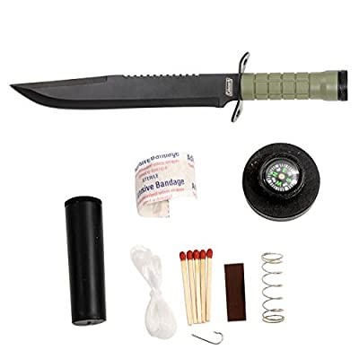 Coleman Fixed Blade Survival Knife, Survival Kit Included in the Handle, Black Nylon Sheath with Grindstone, 16-Inch Overall - CM2013 from Coleman