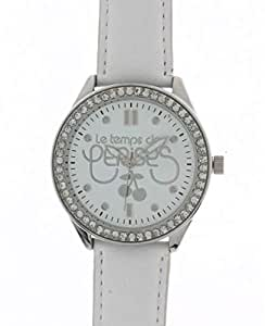 Les Temps De Cerisies Unisex White Dial Leather Band Watch [TC54WTC]