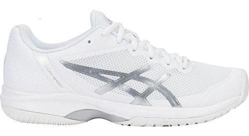 ASICS Womens Gel-Court Speed Sneaker, White/Silver, Size 9