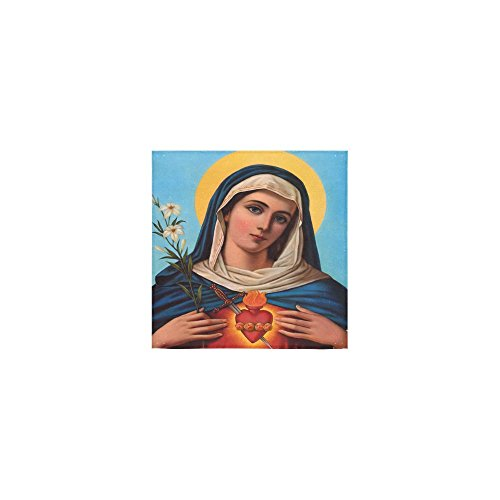 Christmas/Thanksgiving Day Towels Beautiful Virgin Mary Catholic Religious Gift Thin Soft Towel(One Side)(13x13inches) by Virgin Marry Towel