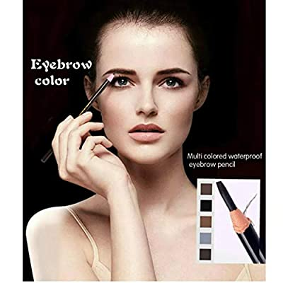 Waterproof Eyebrows Pencil Tattoo Makeup And Microblading Supplies Kit-Permanent Eye Brow Liners In 5 Colors Waterproof Eyebrow Pencils Peel - Brow Pencil Set For Marking