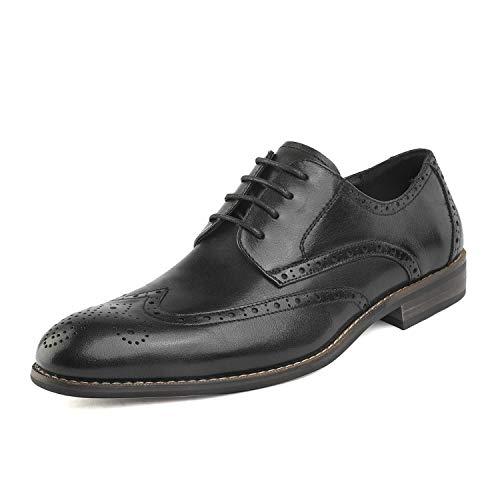 Bruno Marc Men's Black Wingtip Oxford Dress Shoes Size 7.5 M US
