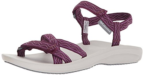 Columbia Women's Wave Train Sport Sandal, Dark Raspberry, White, 11 Regular US - Shoe Sport Raspberry