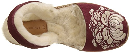 Sling Avarca Bordeaux Sandals Tchéky Red bordeaux Back Women's Minorquines Bordeaux Broderie U5qxI7Xnw