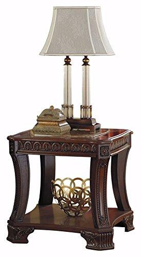 Ashley Furniture Signature Design – Ledelle End Table – Vintage Style – Square – Brown