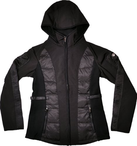1 Madison Expedition Womens Zip Front Exclusive Collection Down Ski Jacket (Black, Medium) ()