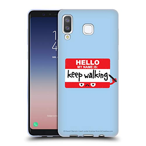 Official David Olenick Red Badge of Discourage Objects Soft Gel Case for Samsung Galaxy A8 Star/A9 Star