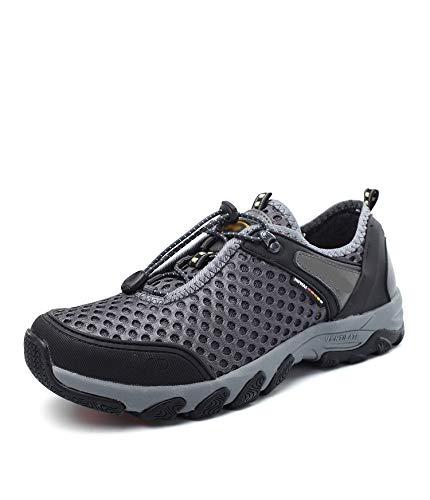 Qiusa Mens Outdoor Schuhe Bequeme weiche Sohle Rutschfeste Breathable Durable Schuhe (Farbe   Grau, Größe   EU 43) B07HMH1TBZ Sport- & Outdoorschuhe Abholung in der Boutique